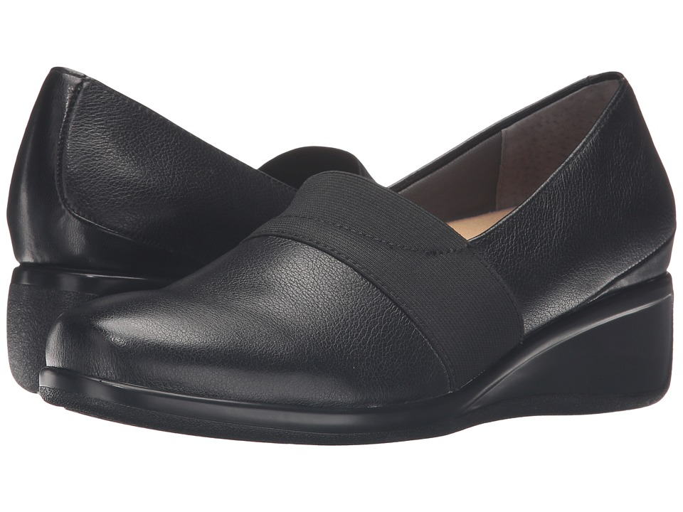 Trotters - Marley (Black Tumbled Leather) Women's Slip on Shoes