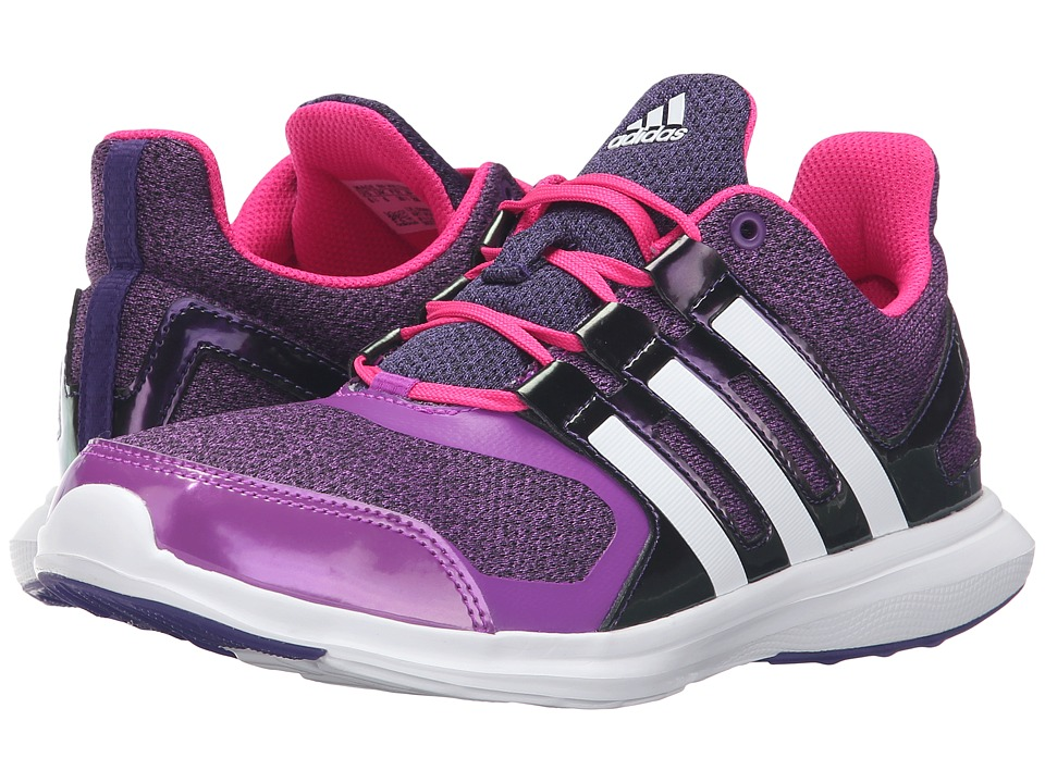 adidas Kids - Hyperfast 2.0 (Little Kid/Big Kid) (Shock Purple/White/Shock Pink) Girls Shoes