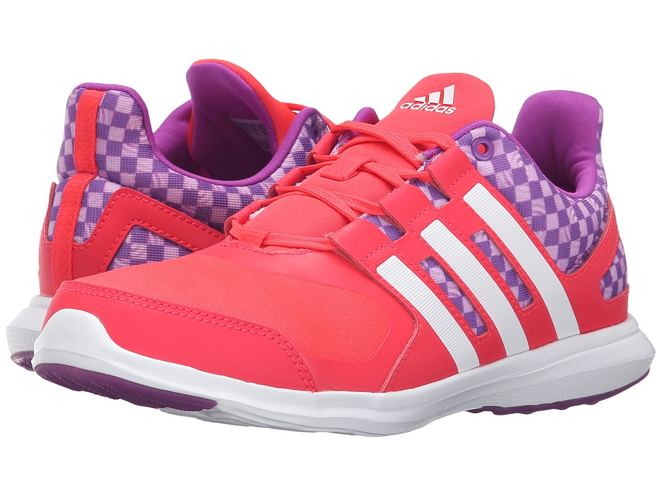 adidas Kids - Hyperfast 2.0 (Little Kid/Big Kid) (Shock Red/Shock Purple/Unity Pink) Girls Shoes