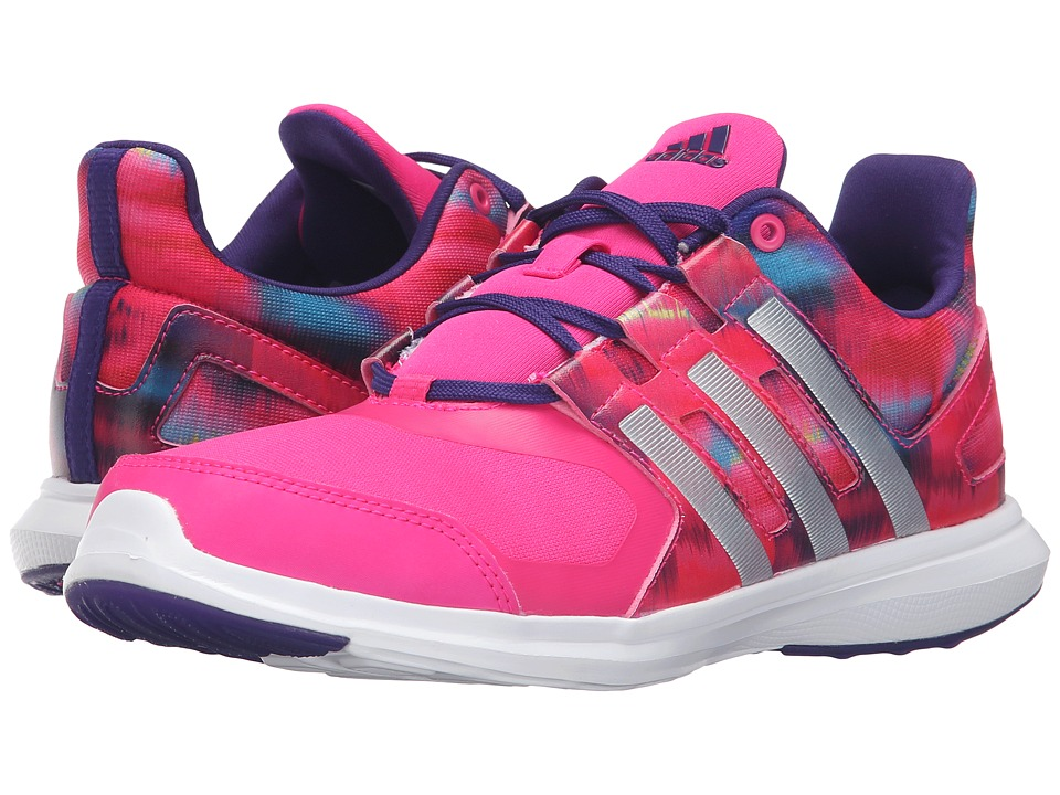 adidas Kids - Hyperfast 2.0 (Little Kid/Big Kid) (Shock Pink/Silver Metallic/Collegiate Purple) Girls Shoes