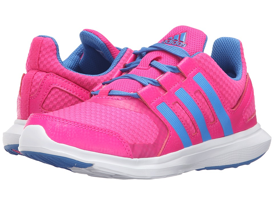 adidas Kids Hyperfast 2.0 (Little Kid/Big Kid) (Shock Pink/Ray Blue/White) Girls Shoes