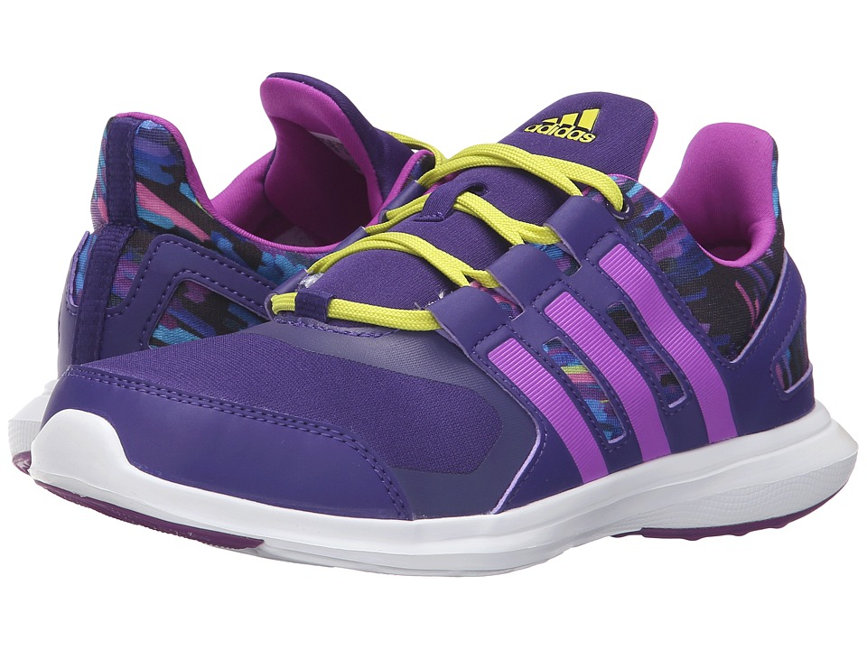 adidas Kids - Hyperfast 2.0 (Little Kid/Big Kid) (Collegiate Purple/Shock Purple/Shock Slime) Girls Shoes