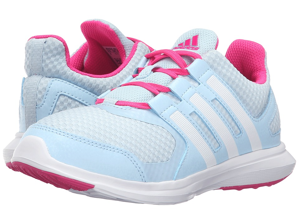 adidas Kids - Hyperfast 2.0 (Little Kid/Big Kid) (Ice Blue/White/Shock Pink) Girls Shoes