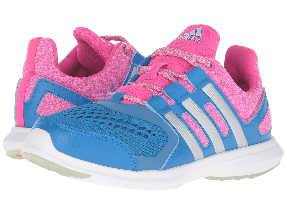 adidas Kids - Hyperfast 2.0 - Wide (Little Kid/Big Kid) (Shock Blue/Matte Silver/Shock Pink) Girls Shoes