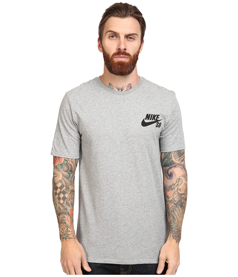 Nike SB - SB Ripped Tee (Dark Grey Heather/Dark Grey Heather/Black) Men's T Shirt