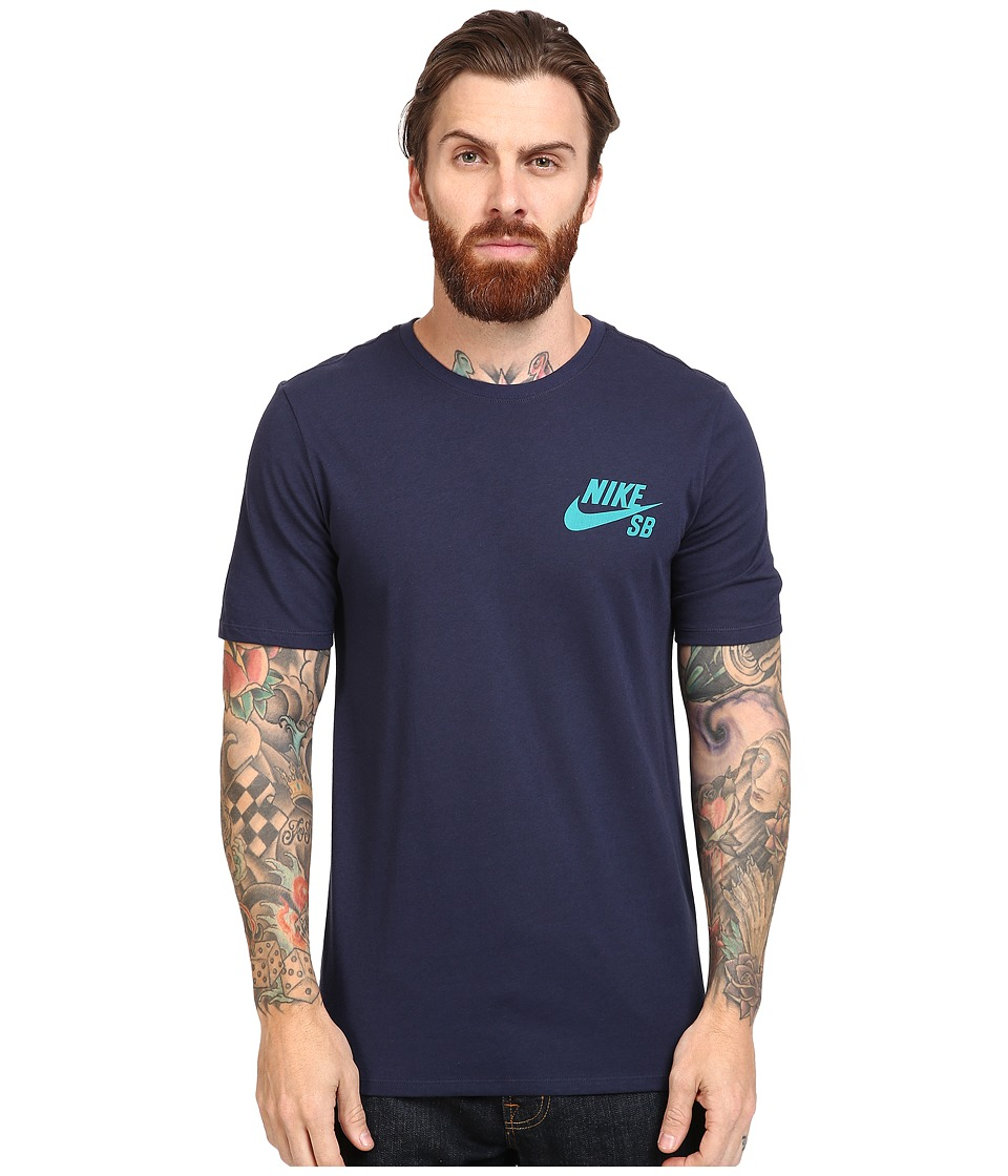 Nike SB - SB Ripped Tee (Obsidian/Obsidian/Rio Teal) Men's T Shirt