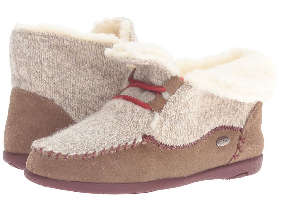 Acorn - Slopeside Boot (Caribou) Women's Slippers