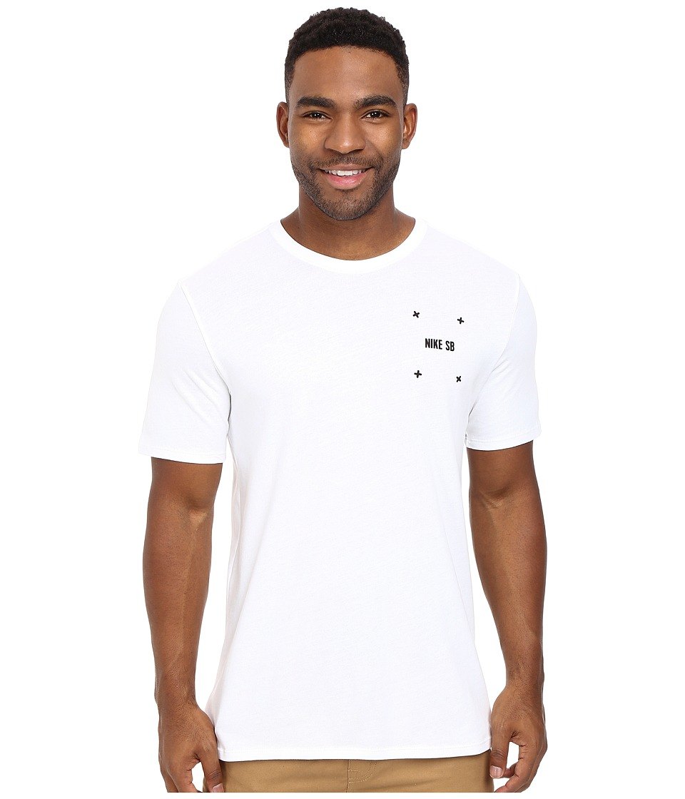 Nike SB - SB Phillips Tee (White/White/Black) Men's T Shirt