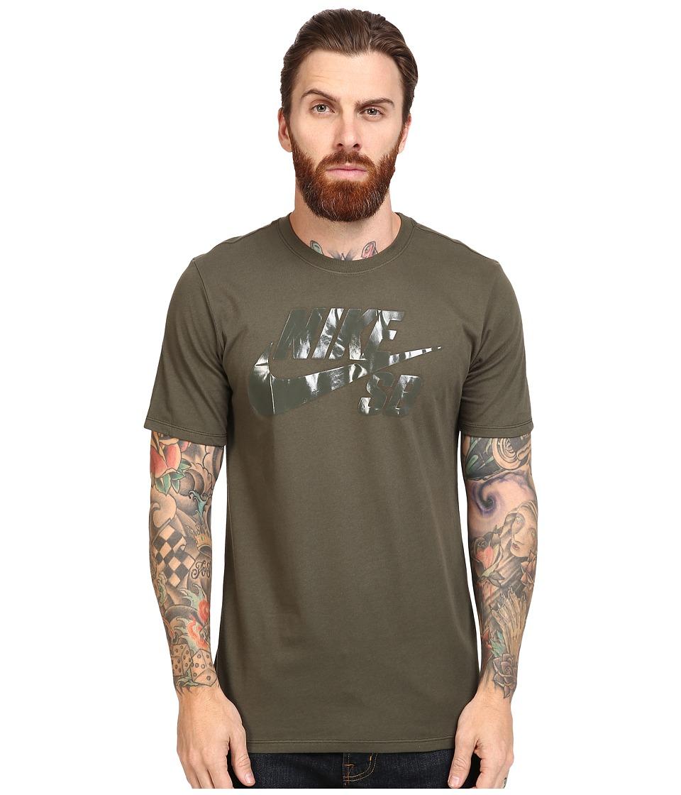 Nike SB - SB Logo Tee (Cargo Khaki/Cargo Khaki/Cargo Khaki) Men's T Shirt