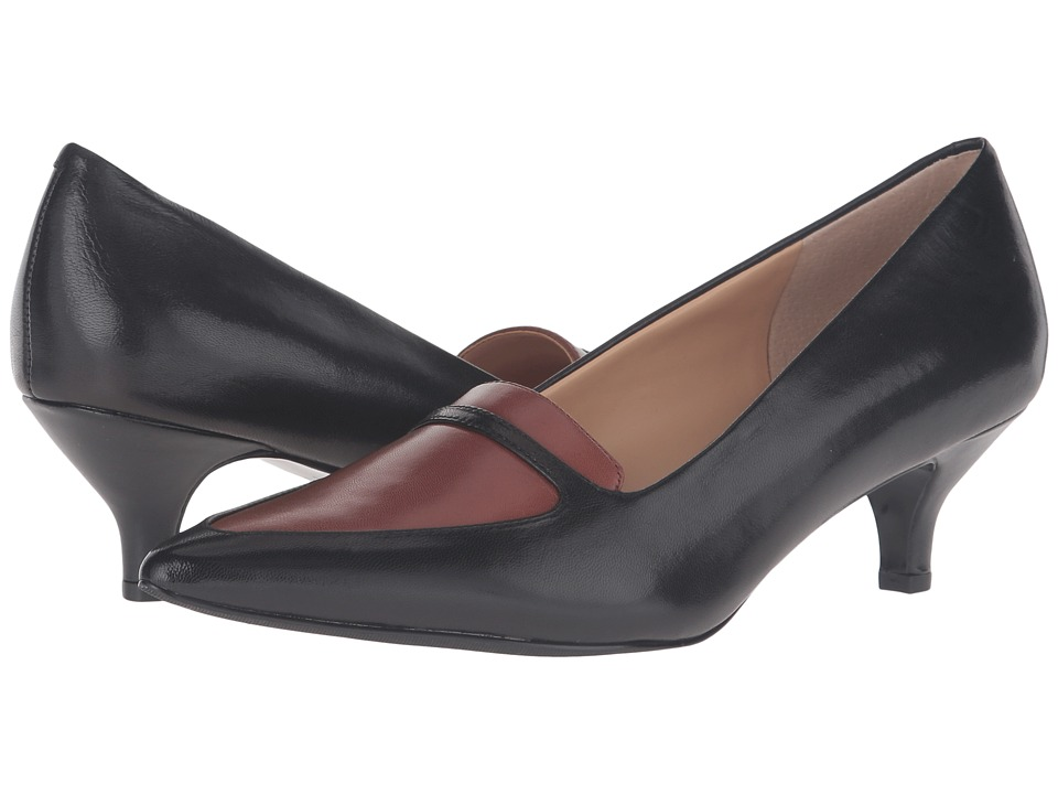 Trotters - Piper (Black/Tobacco Glazed Kid Leather) Women's 1-2 inch heel Shoes