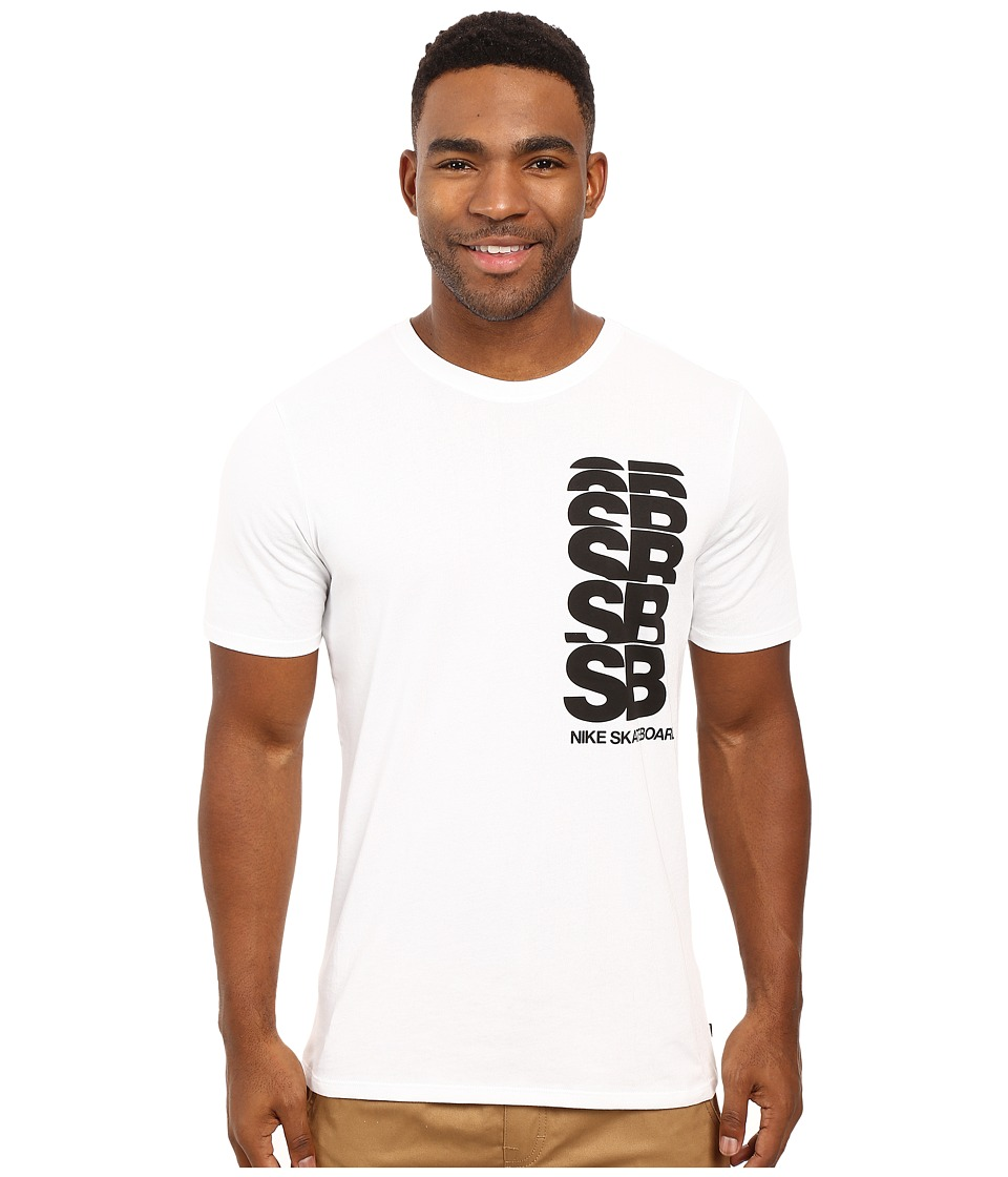 Nike SB - SB Cut Tee (White/White/Black) Men's T Shirt