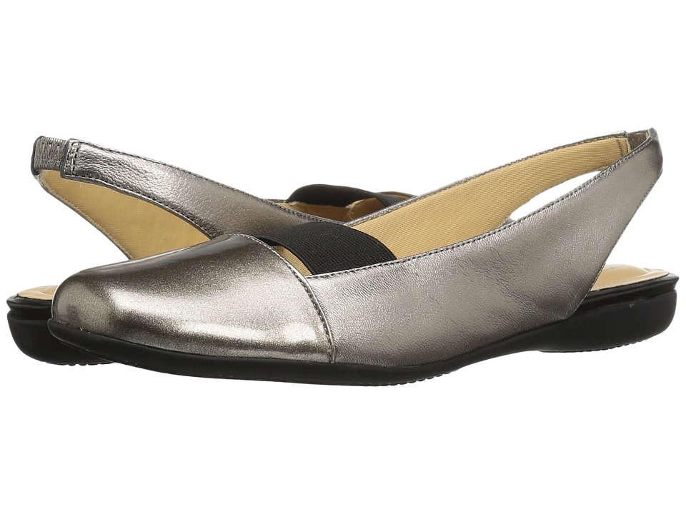 Trotters Sarina (Pewter Metallic Leather/Pearlized Patent) Women