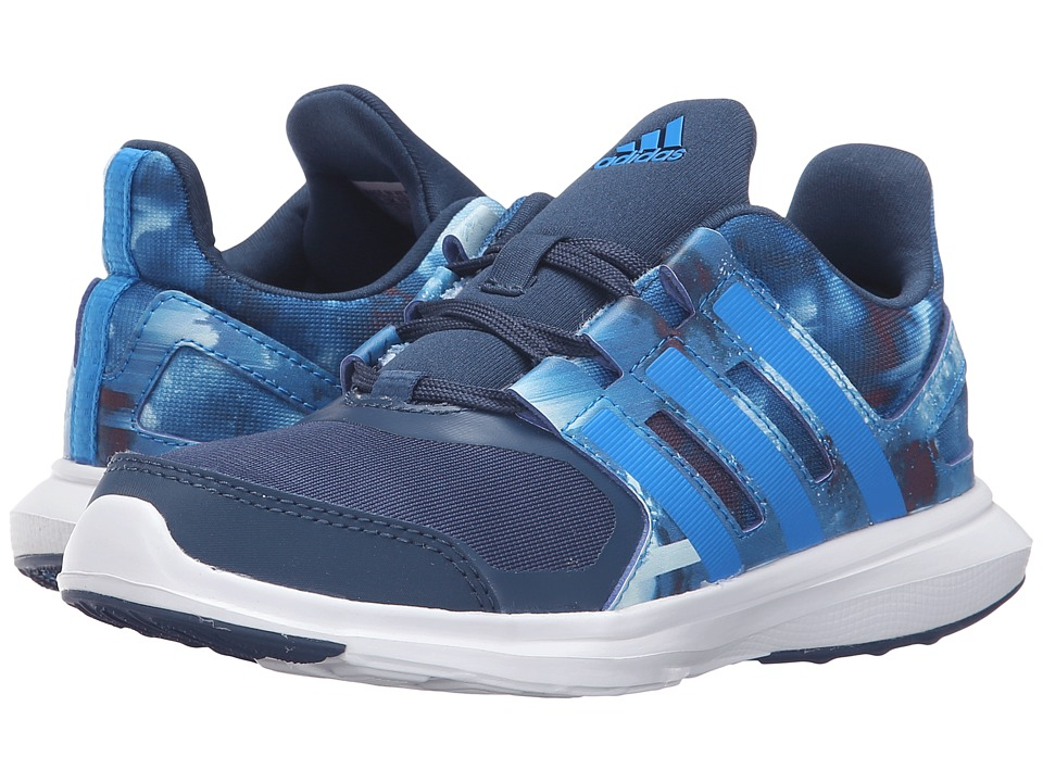 adidas Kids - Hyperfast 2.0 (Little Kid/Big Kid) (Mineral Blue/Shock Blue/White) Boys Shoes