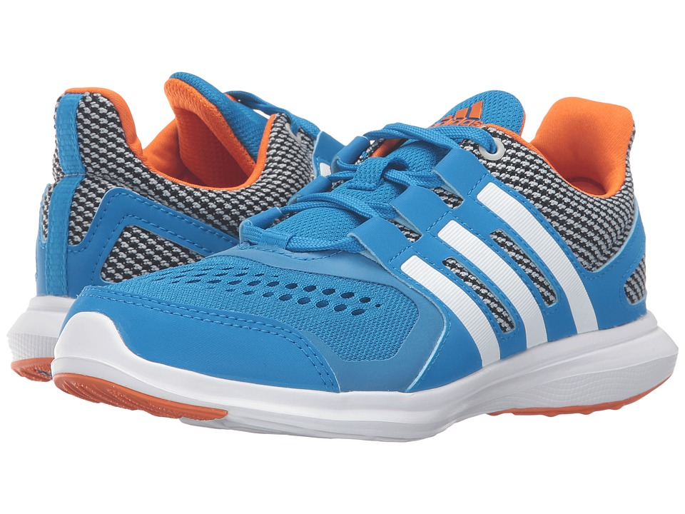 adidas Kids - Hyperfast 2.0 - Wide (Little Kid/Big Kid) (Shock Blue/White/Unity Orange) Boys Shoes