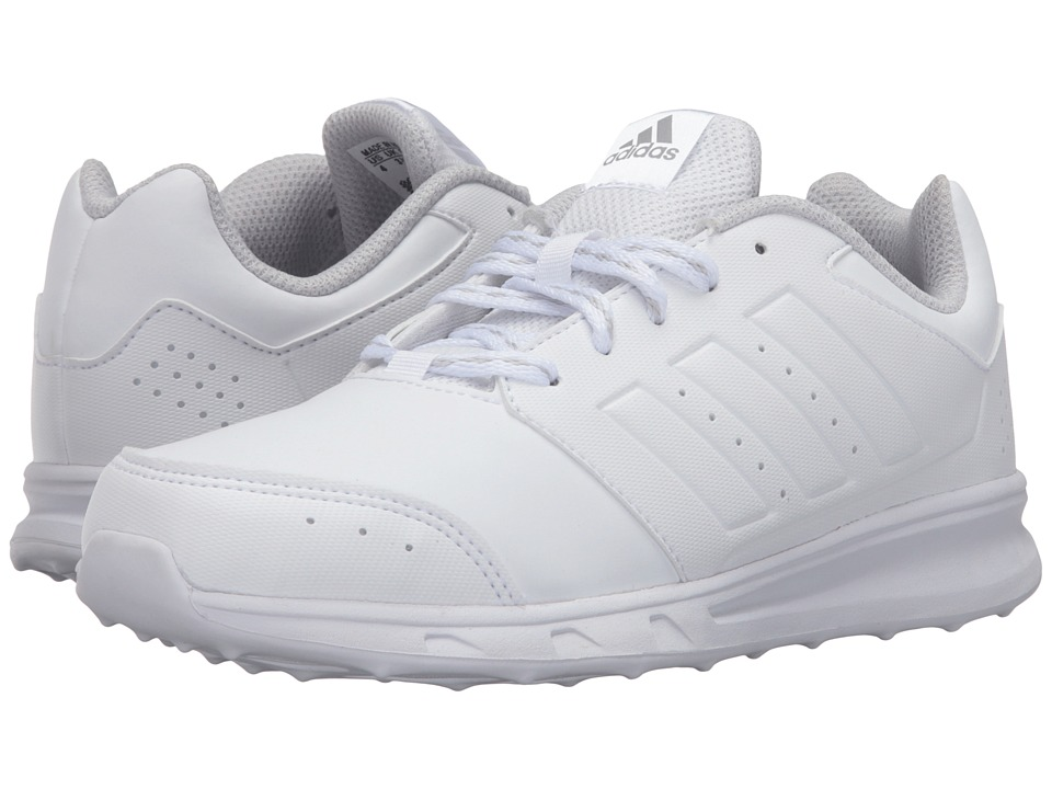 adidas Kids - LK Sport 2 (Little Kid/Big Kid) (White/Light Grey Heather Solid Grey) Kids Shoes
