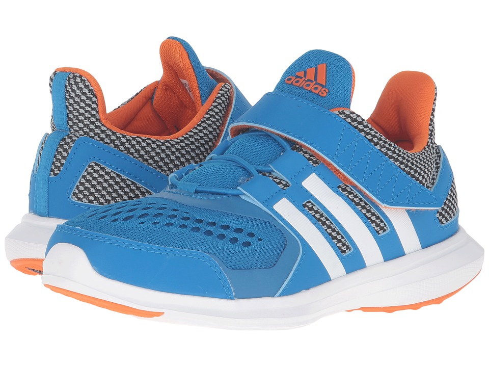 adidas Kids - Hyperfast 2.0 EL (Little Kid/Big Kid) (Shock Blue/White/Unity Orange) Boys Shoes