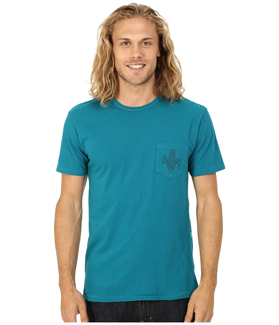 VISSLA - Hula Vintage Wash Pocket Tee (Teal) Men's T Shirt