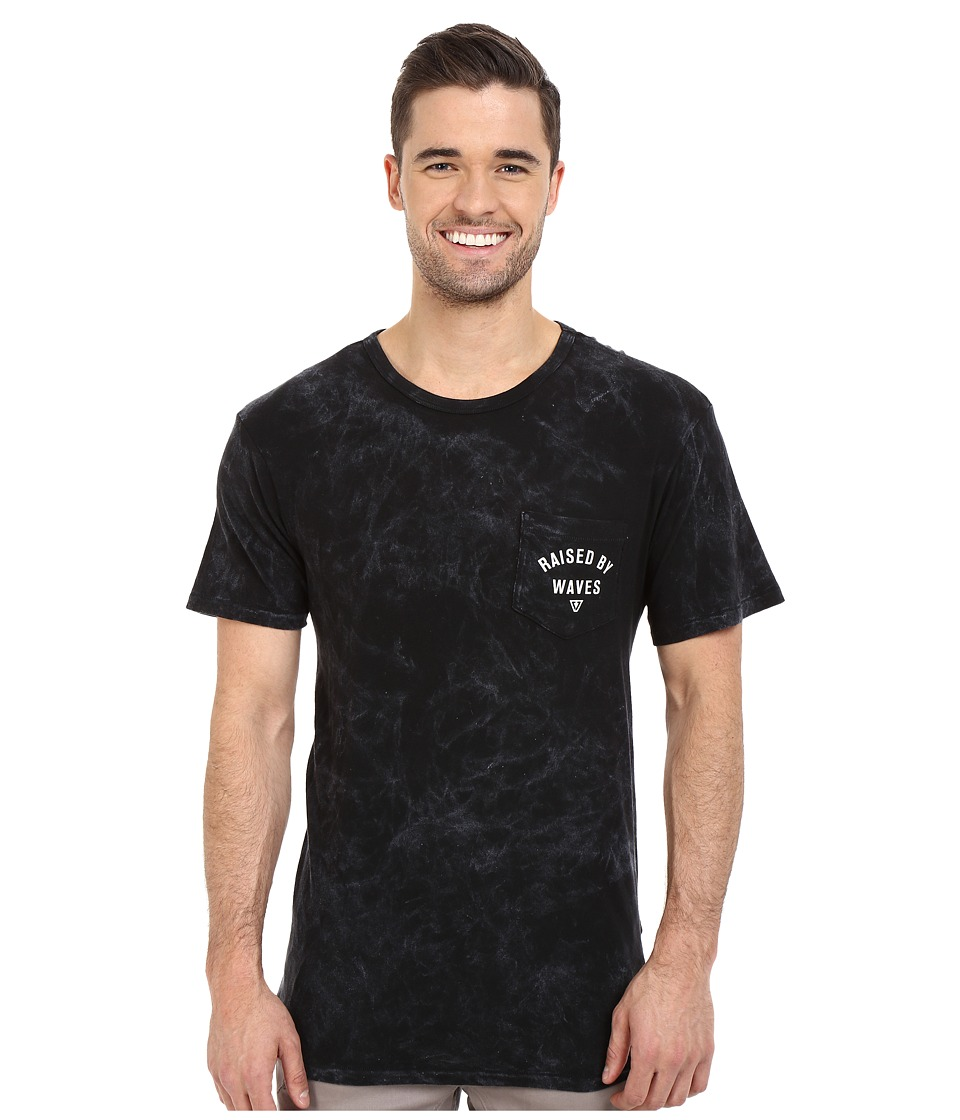 VISSLA - Raised Mineral Wash Pocket Tee (Phantom) Men's T Shirt