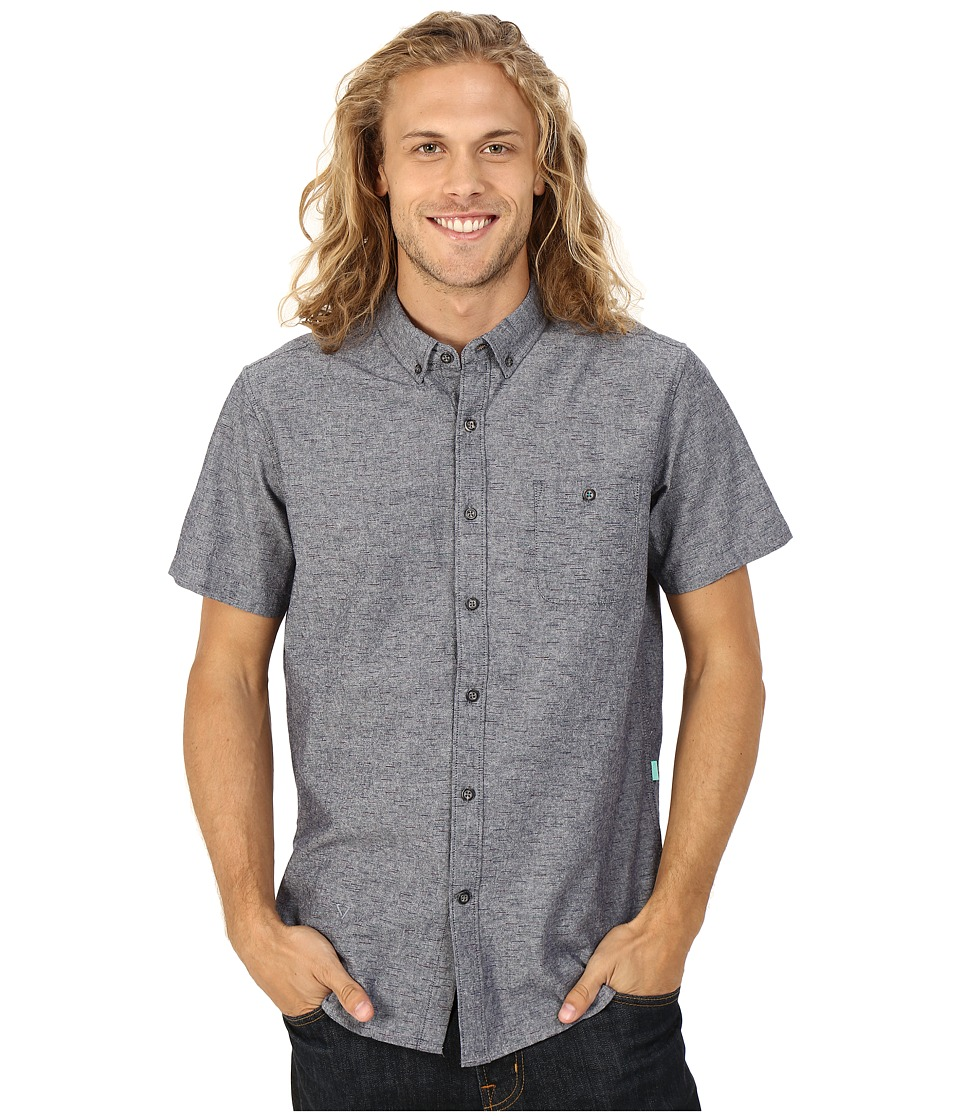 VISSLA - Playa Negra Short Sleeve Woven (Black) Men's Short Sleeve Button Up
