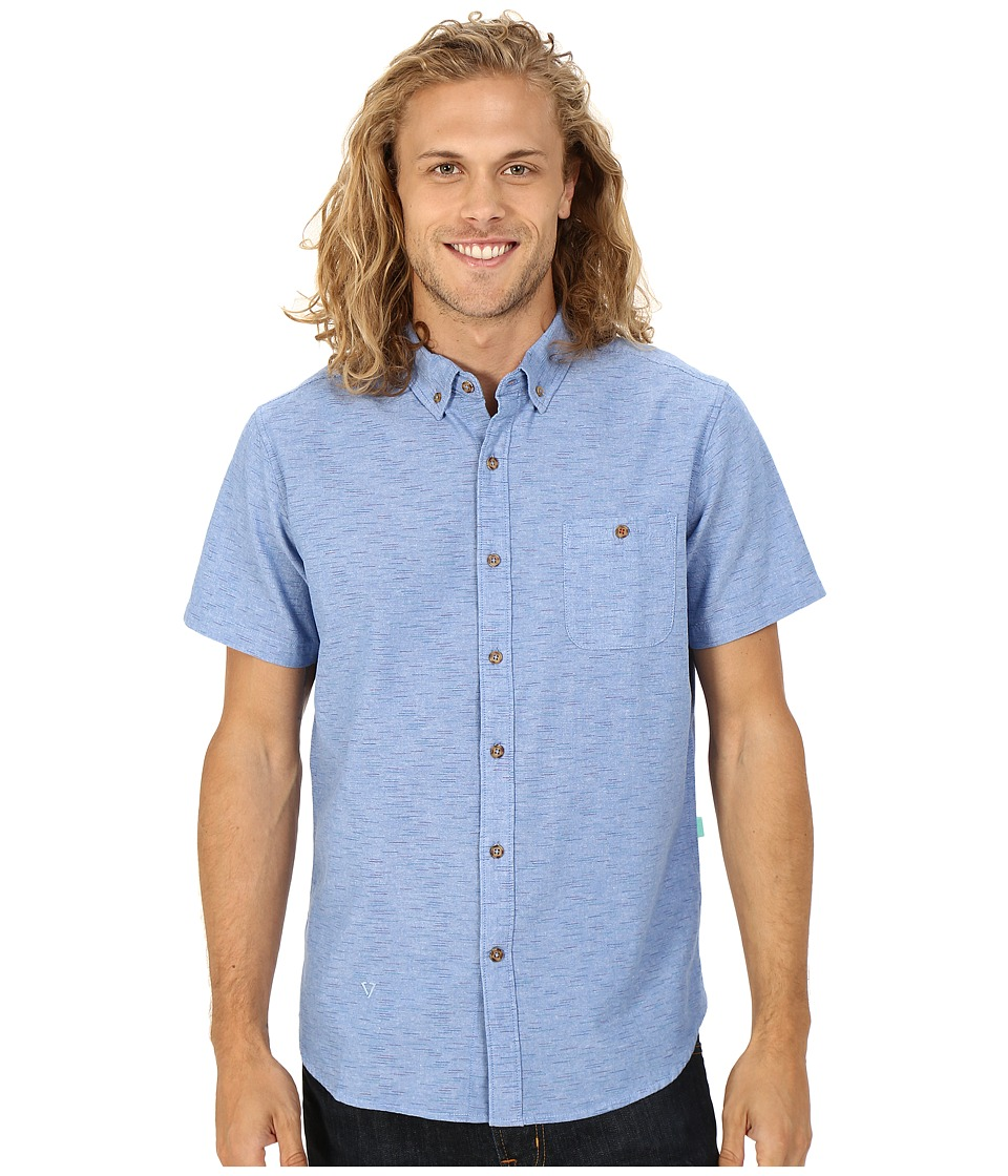 VISSLA - Playa Negra Short Sleeve Woven (Light Navy) Men's Short Sleeve Button Up