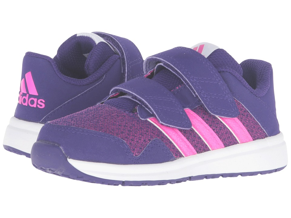 adidas Kids - Snice 4 CF (Toddler) (Collegiate Purple/Shock Pink/White) Girls Shoes