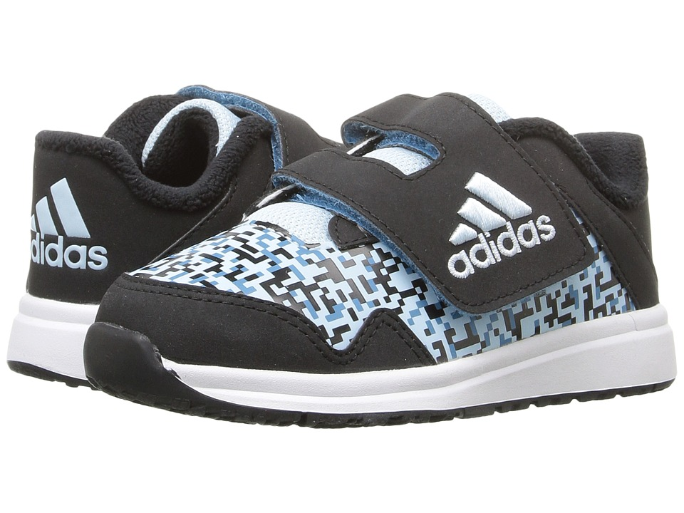 adidas Kids - Snice 4 CF (Toddler) (Black/Ice Blue/Craft Blue) Girls Shoes