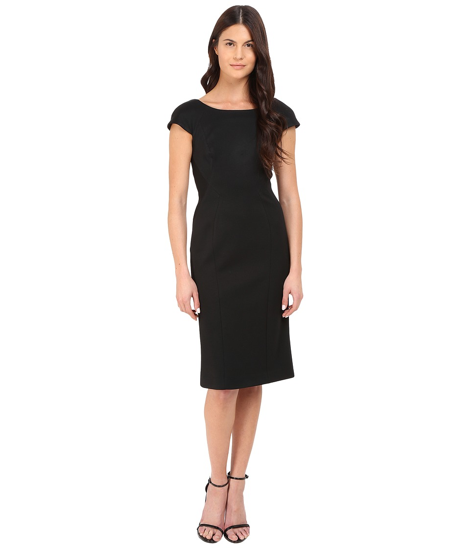 Zac Posen - Short Sleeve Fitted Sheath Dress (Black) Women's Dress