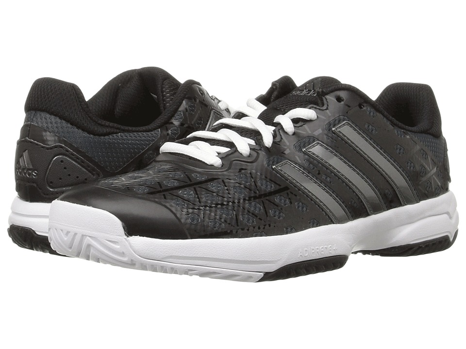 adidas Kids Barricade Club (Little Kid/Big Kid) (Black/Night Metallic/White) Kids Shoes