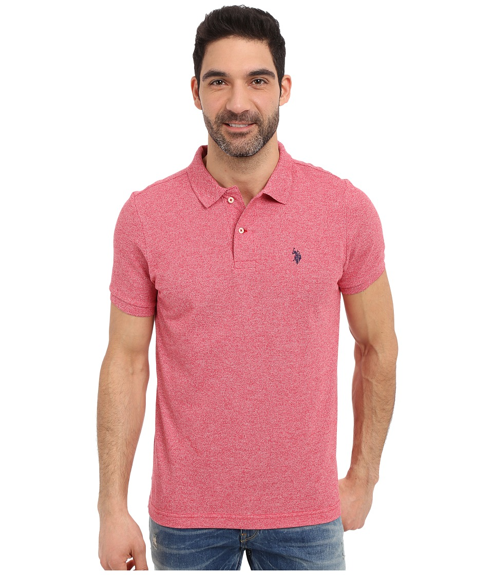 U.S. POLO ASSN. - Twisted Yarn Polo Shirt (Winning Red) Men