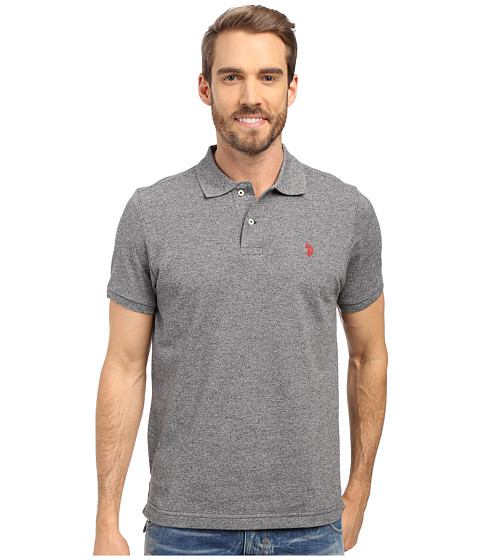U.S. POLO ASSN. - Twisted Yarn Polo Shirt (Black) Men