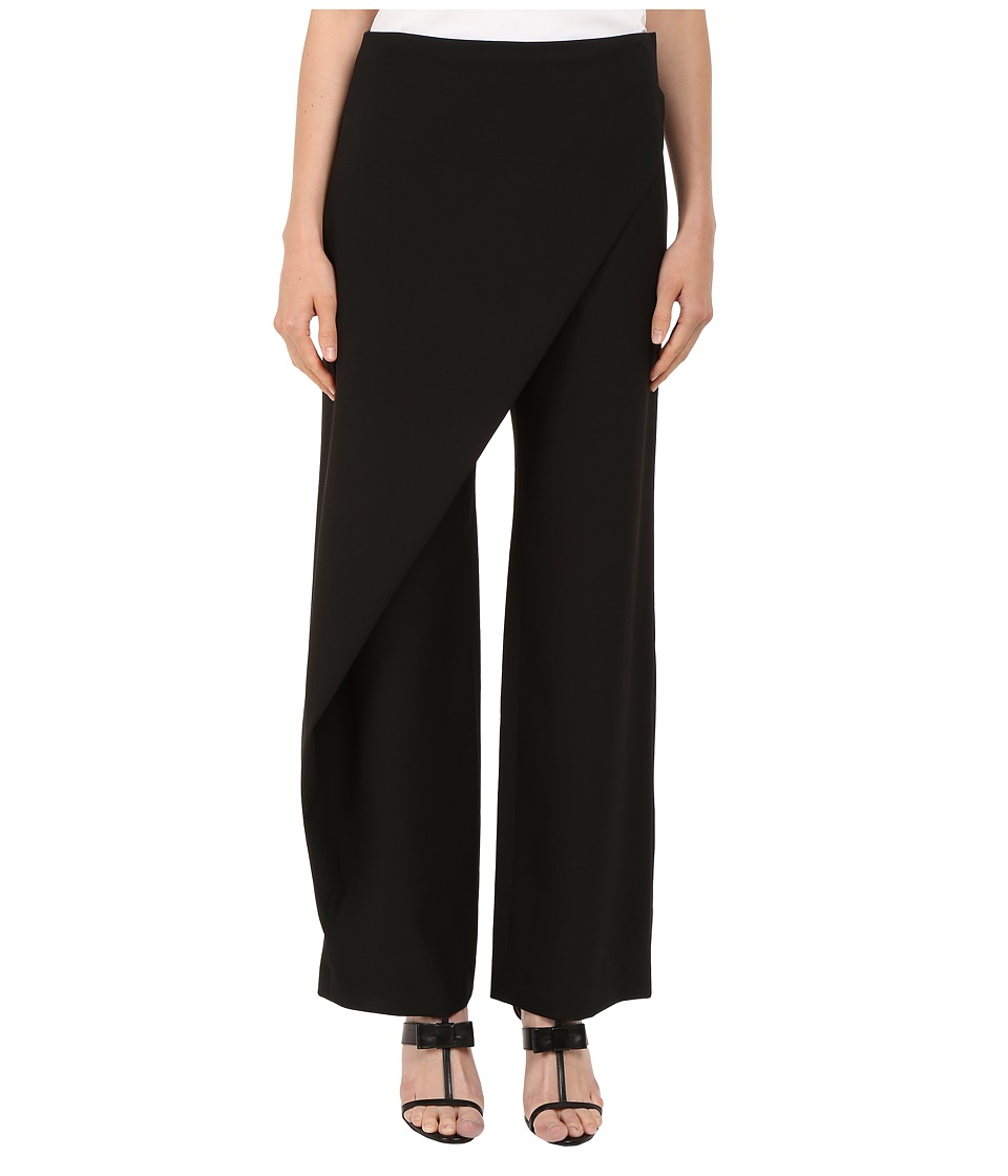 Zac Posen - High Waist Wide Leg Trousers (Black) Women's Casual Pants