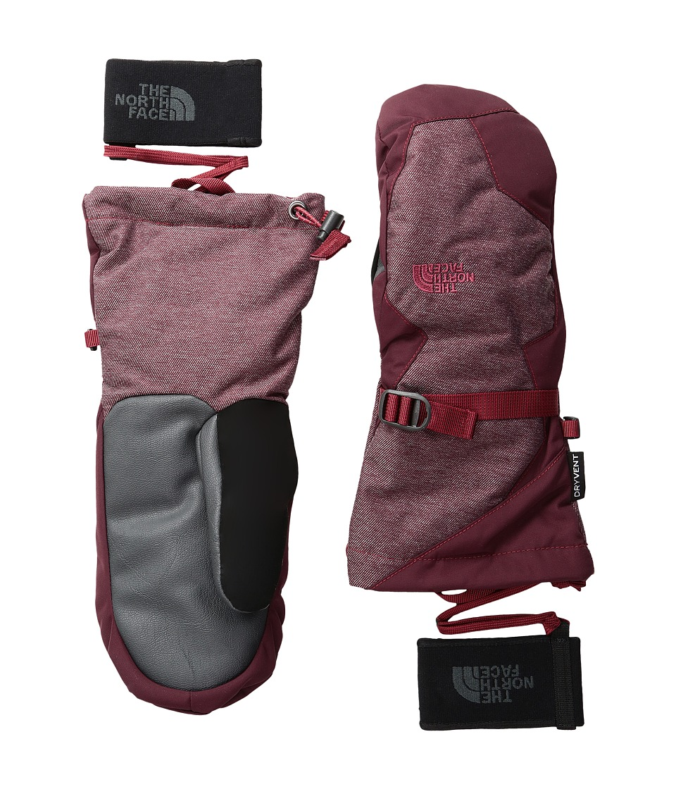 The North Face - Montana Mitt (Deep Farnet Red/Biking Red) Extreme Cold Weather Gloves