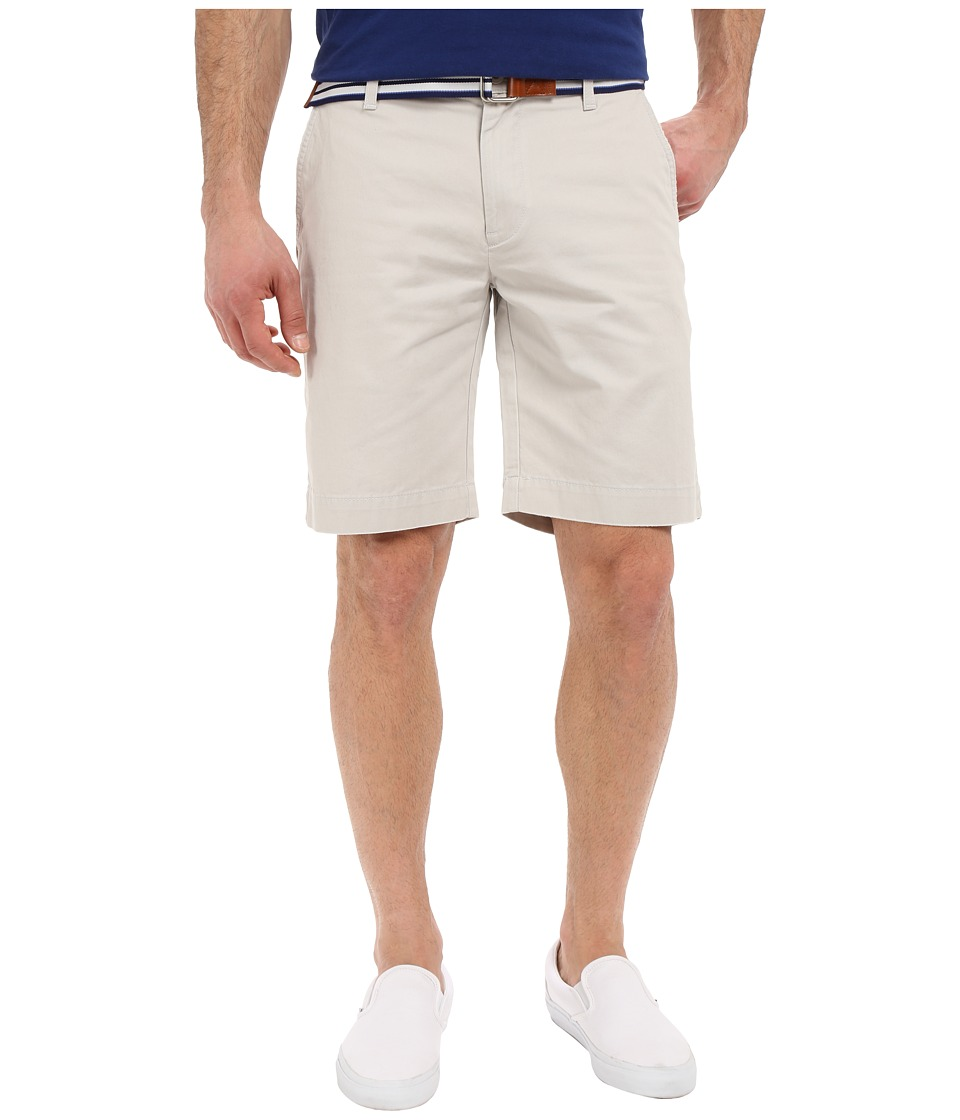 U.S. POLO ASSN. Hartford Flat Front Twill Shorts (Tin Grey) Men