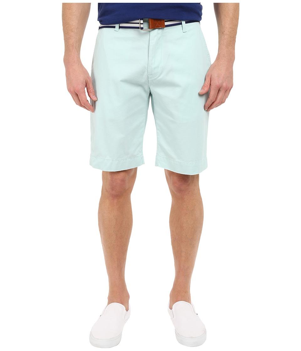 U.S. POLO ASSN. - Hartford Flat Front Twill Shorts (Aqua Light) Men's Shorts
