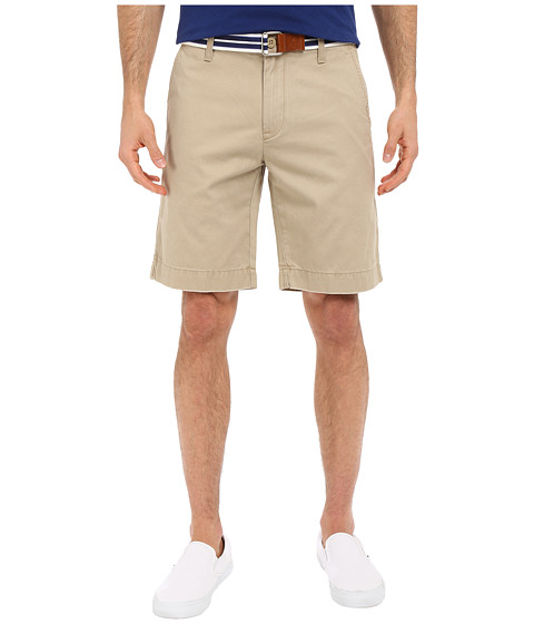U.S. POLO ASSN. - Hartford Flat Front Twill Shorts (Oxford Tan) Men