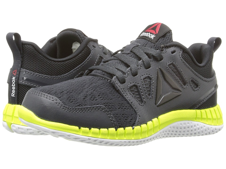 Reebok Kids - ZPrint 3D (Little Kid) (Coal/Black/Alloy/Solar Yellow) Boys Shoes