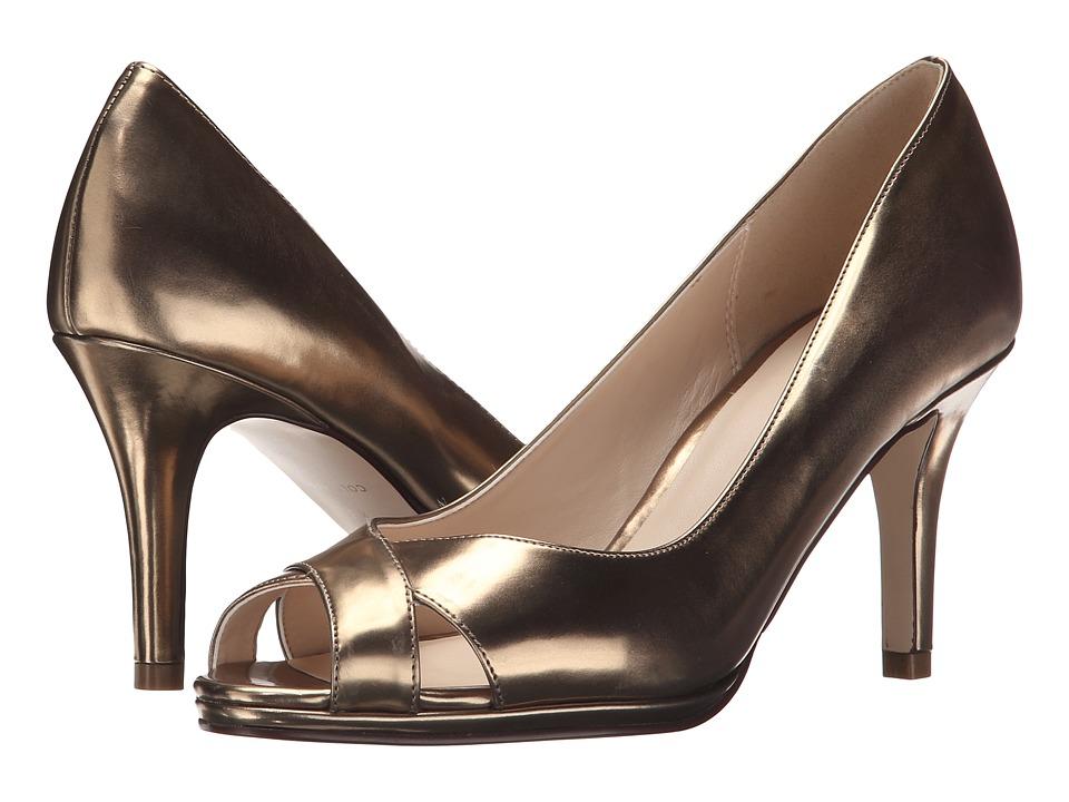 Cole Haan - Lena Open Toe Pump 75 II (Gold Metallic) Women's Shoes