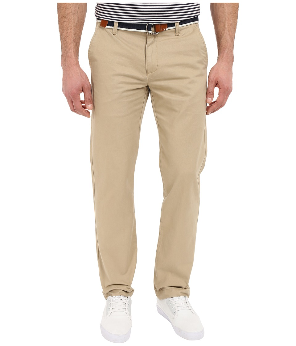 U.S. POLO ASSN. - Classic Chino Twill Pants w/ Web Belt (Oxford Tan) Men's Casual Pants
