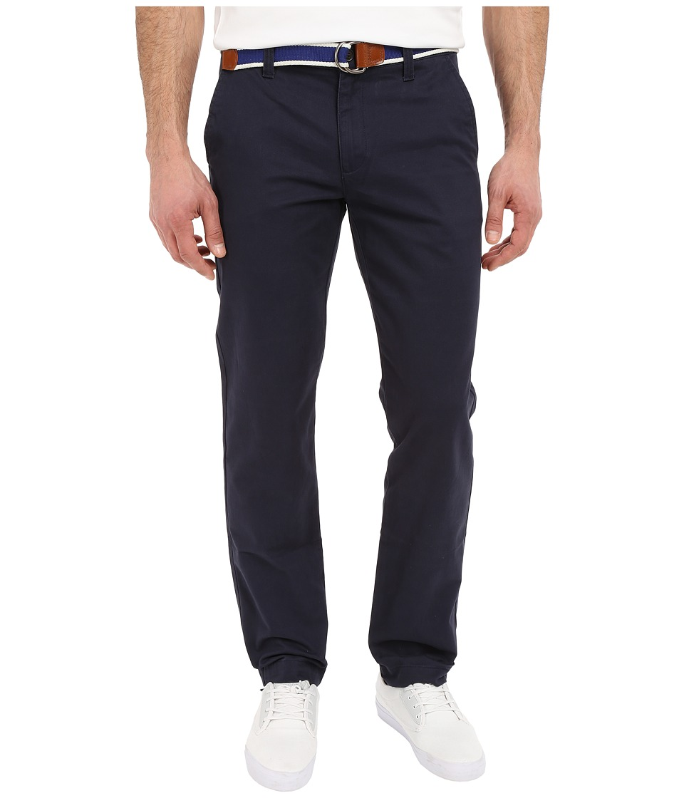 U.S. POLO ASSN. - Classic Chino Twill Pants w/ Web Belt (Club Navy) Men's Casual Pants