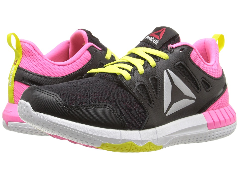 Reebok Kids - ZPrint 3D (Big Kid) (Black/Poison Pink/Hero Yellow/Silver Metallic) Girls Shoes