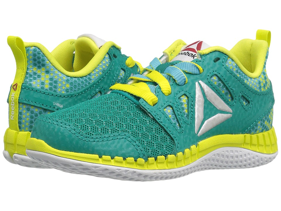 Reebok Kids ZPrint 3D MTL (Little Kid) (Totally Teal/Crisp Blue/Hero Yellow/Silver Metallic) Girls Shoes
