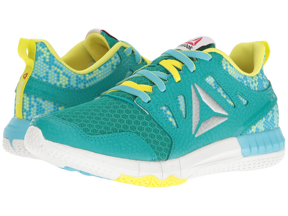 Reebok Kids ZPrint 3D MTL (Big Kid) (Totally Teal/Crisp Blue/Hero Yellow/Silver Metallic) Girls Shoes