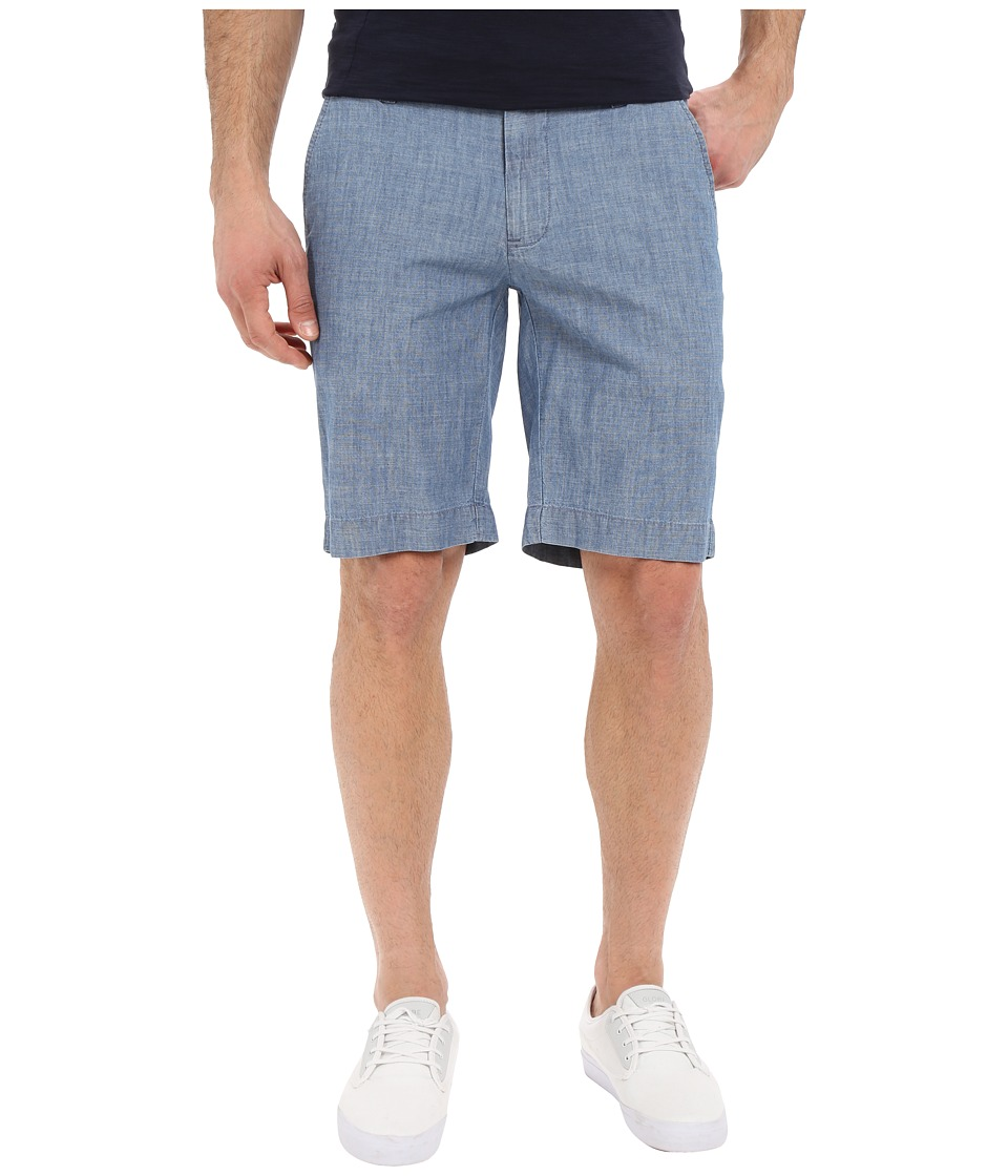 U.S. POLO ASSN. Flat Front Chambray Shorts (Blue) Men