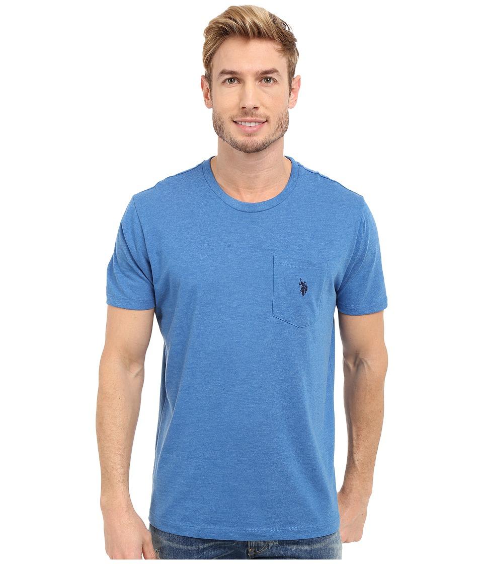 U.S. POLO ASSN. - Crew Neck Pocket T-Shirt (Blue Tile Heather) Men's Short Sleeve Pullover