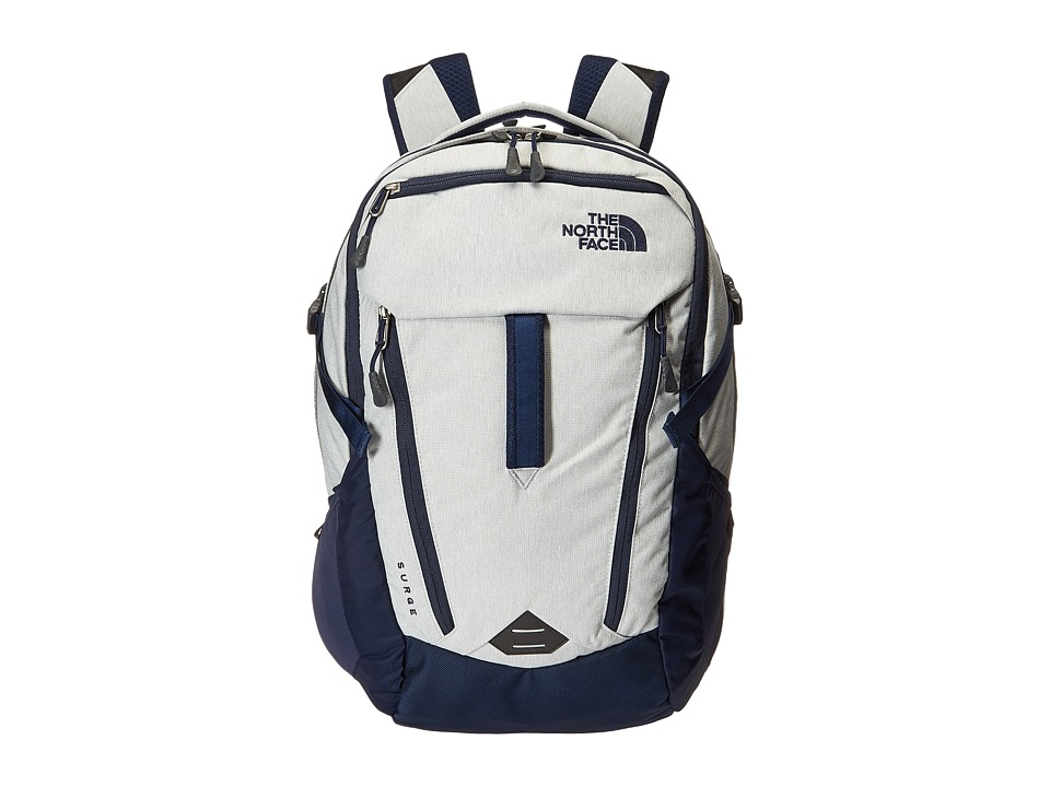The North Face - Surge (High Rise Grey/Cosmic Blue) Backpack Bags
