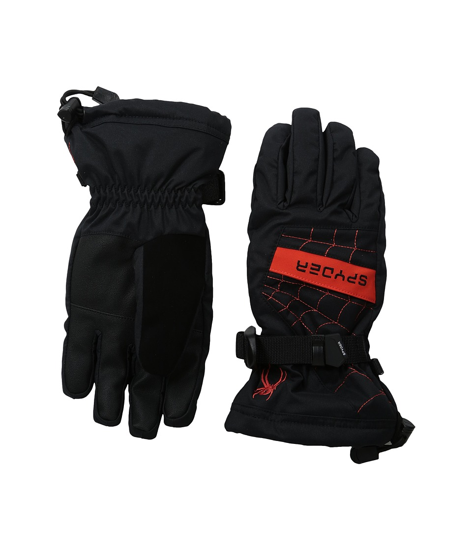 Spyder Kids - Overweb Ski Gloves (Big Kids) (Black/Rage) Extreme Cold Weather Gloves