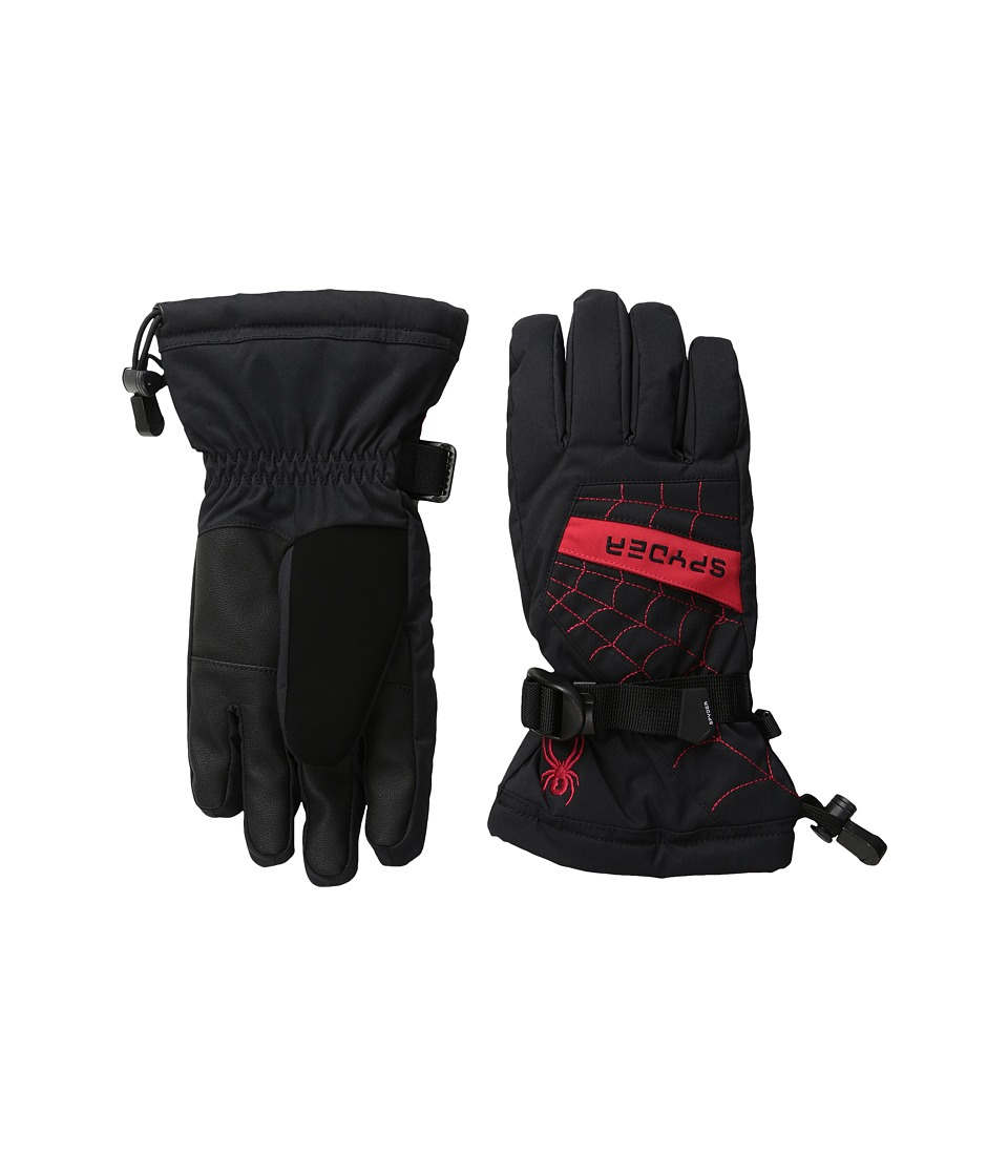 Spyder Kids - Overweb Ski Gloves (Big Kids) (Black/Red) Extreme Cold Weather Gloves