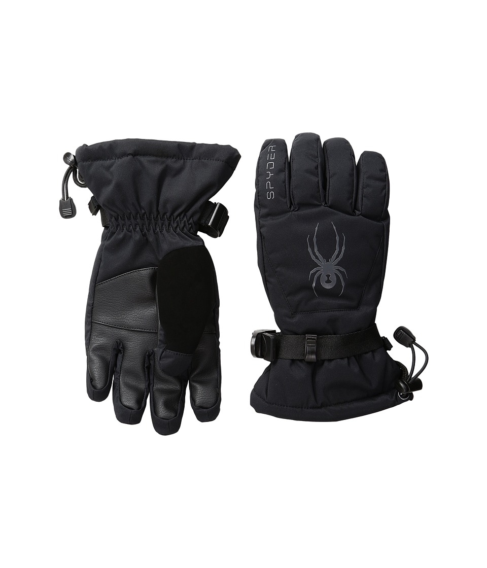 Spyder Kids - Essential Ski Gloves (Big Kids) (Black/Polar) Extreme Cold Weather Gloves