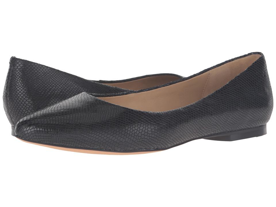 Trotters - Estee (Black Snake Embossed) Women's Slip-on Dress Shoes