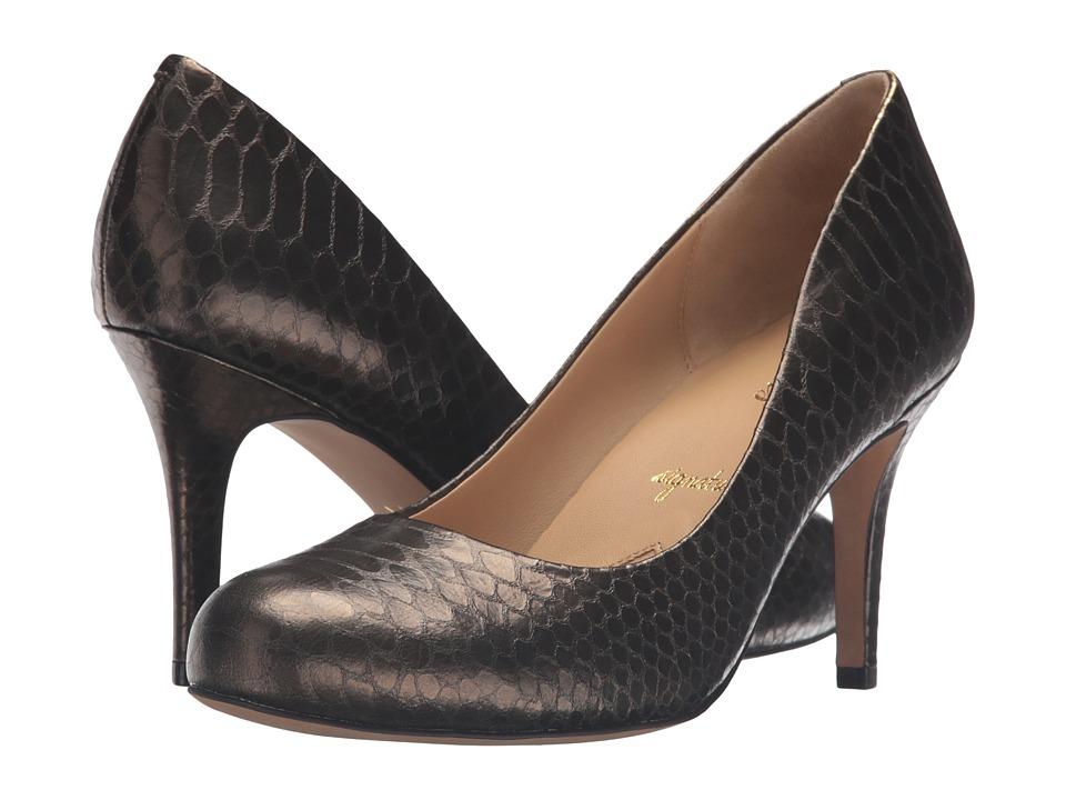Trotters - Gigi (Bronze Metal Glazed Snake) High Heels